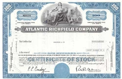 The Atlantic Richfield Company Stock Certificate - Blue