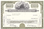 The Atlantic Refining Company Stock Certificate - Olive