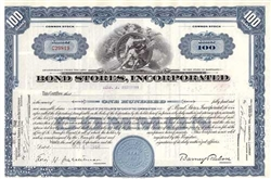 Bond Stores, Inc. Stock Certificate