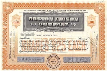 Boston Edison Company Stock - Orange