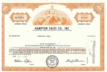 Hampton Sales Co., Inc. Stock