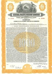 Central Pacific Railway Company bond