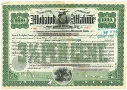 Mohawk and Malone Railway Company Gold Bond