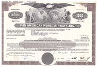Pan American World Airways, Inc. Stock Certificate - Brown