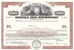 Shell Oil Company Bond - Maroon