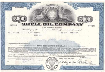 Shell Oil Company Bond - Blue