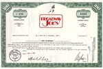 Broadway Joes Stock Certificate - Green