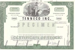 Tenneco Inc. Specimen Stock Certificate
