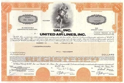 United Airlines Bond Certificate - Orange