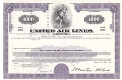 United Airlines $1000 Bond Certificate