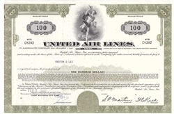 United Airlines Convertible Bond Certificate