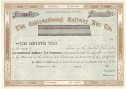 The International Railway Tie Co. Stock Certificate