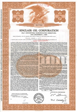 Sinclair Oil Corp Bond - Red