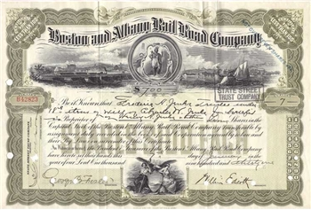 Boston and Albany Railroad Company Stock Certificate