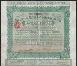 The British Motor Cab Company Bond