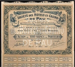 1928 De Pau, France: Societe des Hotels et Casino de Pau Bond