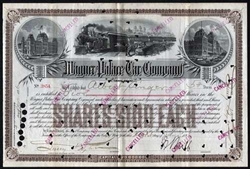 Wagner Palace Car Company Stock Certificate