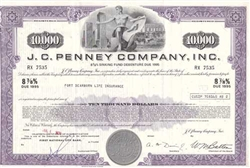 J.C. Penney Corporation $10,000 Bond Certificate