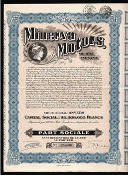 1927 Minerva Motors - Automobile Company
