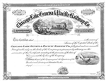 1800s Chicago, Lake Geneva & Pacific Railway Co. Stock Certificate