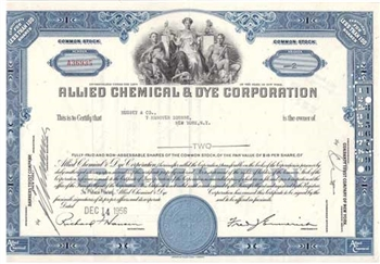 Allied Chemical & Dye Corp. Stock Certificate