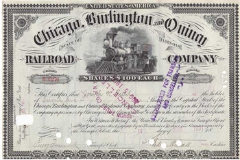 Chicago, Burlington and Quincy Railroad Co. - Early