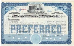 1800s The Laclede Gas Light Company Stock Certificate