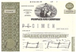 Peoples Gas Company Specimen Stock - Olive