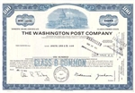 The Washington Post Company Certificate - Blue