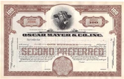 Oscar Mayer & Co., Inc Stock Certificate