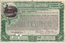 1900 Baltimore and Ohio (B&O) Railroad Co. Stock