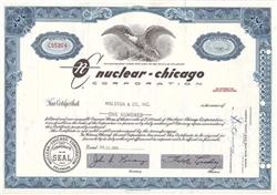 Nuclear Chicago Corp. Stock Certificate