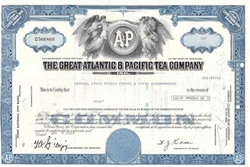 The Great Atlantic & Pacific Tea Company Stock Blue