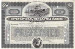 International Mercantile Marine Stock Certificate - early 10 Shares