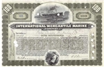 International Mercantile Marine Stock Certificate - early 100 Share
