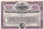 International Mercantile Marine Stock Certificate - Purple
