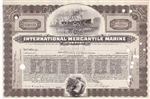 International Mercantile Marine Stock Certificate - <100 Shares