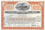 International Mercantile Marine Stock Certificate - 1930s