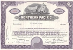 Northern Pacific Railroad Co Certificate - Purple