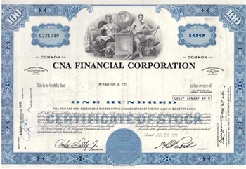 CNA Financial Corp. Stock Certificate