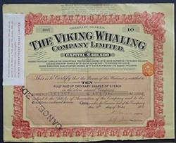 1931 The Viking Whaling Company Limited
