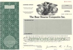 The Bear Stearns Company Inc. Stock Certificate- Specimen