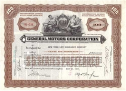 General Motors Corp. Stock Certificate
