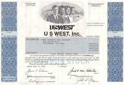 USWEST Inc. Stock Certificate
