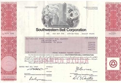Southwestern Bell Corp. Stock Certificate