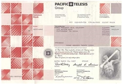 Pacific Telesis Group Stock Certificate