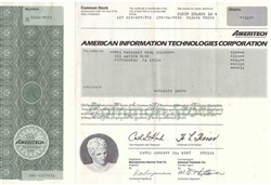 American Information Technologies Corp. (Ameritech) Stock Certificate