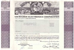 GM Hughes Electronics Corp. Stock Certificate