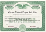 Chicago Cubs Specimen Stock Certificate - Chicago National League Ball Club - Rare
