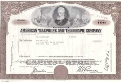 American Telephone and Telegraph AT&T Stock Certificate